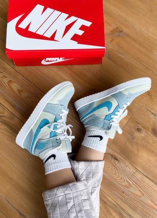 Nike air jordan 1 mid mixed textures кроссовки