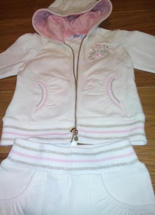 Утепленный комплект спортивный костюм  для девочки  mayoral новый 92см
