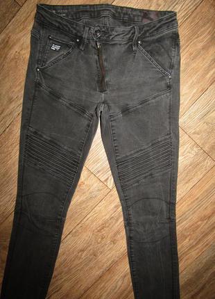 Зауженные джинсы р-р 28-м стрейч g-star raw