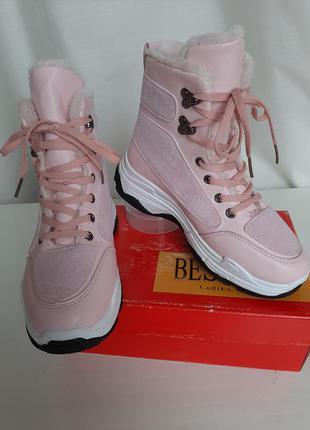 Зимние ботинки 38р, сапожки кроссовки