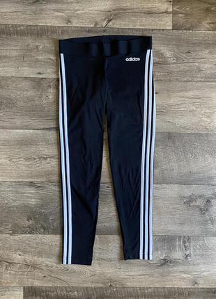 Чёрные лосины adidas леггинсы адидас