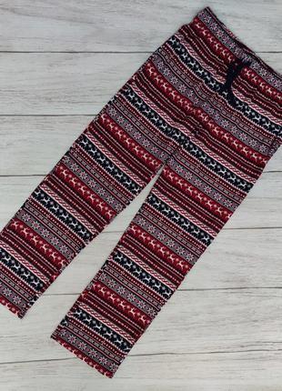Уютные флисовые штанишки для дома для сна с карманами состояние новых