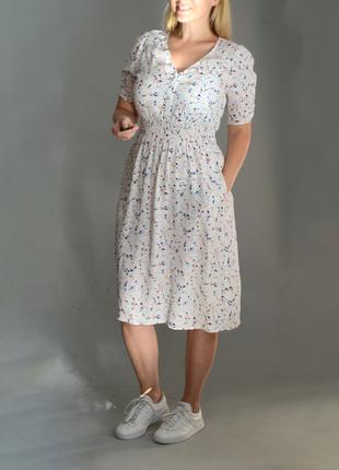5371\66 светлое воздушное платье m&s l