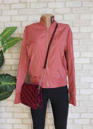 Фирменная atmosphere стильная куртка/бомбер в розовом цвете, размер хс-с