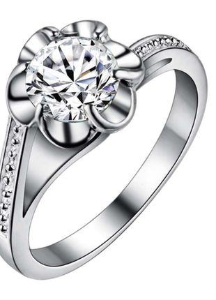 Кольцо с серебристым камнем 16 размер серебро 925 / большая распродажа!