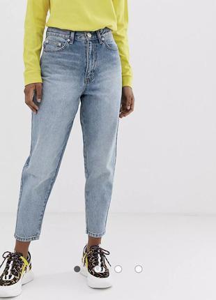 Стильные голубые джинсы бананы asos