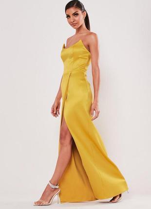 Вечернее платье длинное миди с разрезом