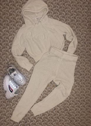 Белый вязаный костюм missguided, xs-s.