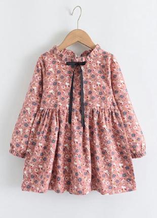 Байковое платье для девочки
