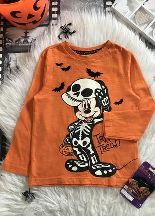 Классный оранжевый тематический свитшот на хеллоуин с микки маусом 👻🎃