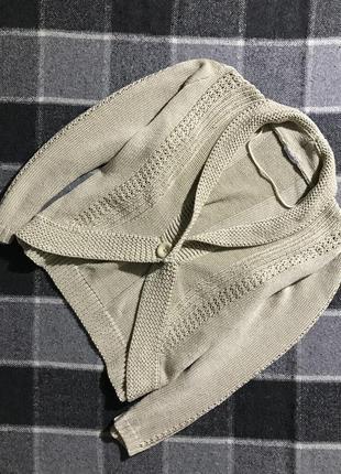 Женская кофта (кардиган) damart ( дамарт л-хлрр оригинал бежевая)