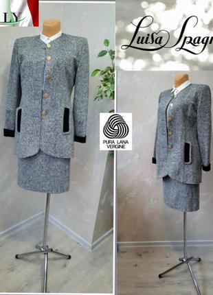 Luisa spagnoli ( италия) костюм жакет + юбка  100% шерсть