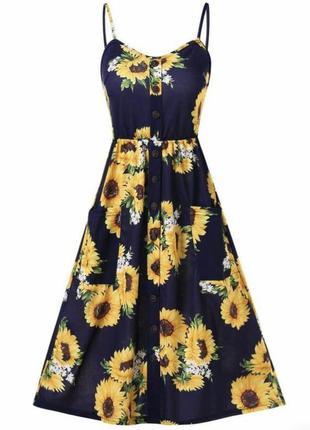 Новое платье в подсолнухи от shein !
