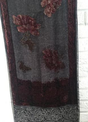 Шарф платок cristian dior шовк з бархатом
