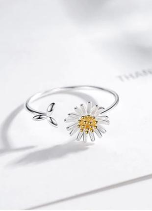 Нежное колечко цветок ромашка серебро 925 / большая распродажа!