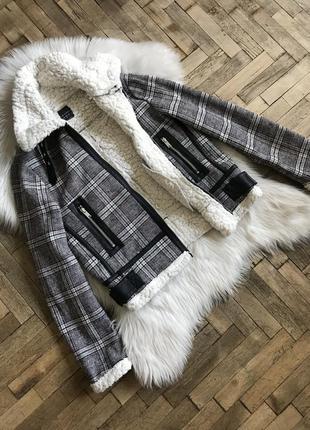 Курточка из твидовой ткани new look