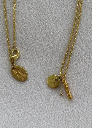 Шикарная позолоченная цепочка с подвеской maison scotch оригинал колье ожерелье кулон asos