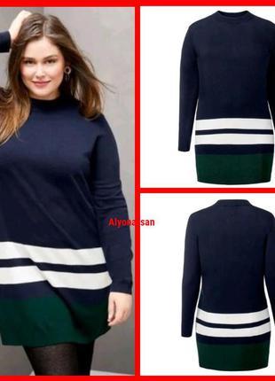 Мягкое платье-свитер в двух размерах батал 💣
