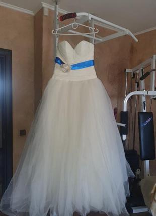 Свадебное платье шампань