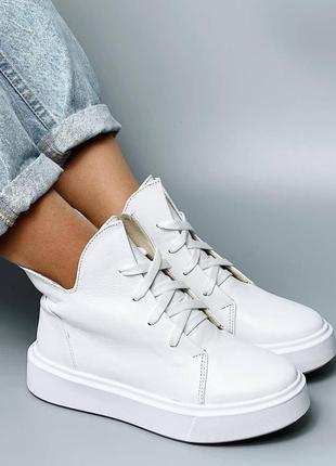 Натуральная кожа ботиночки деми