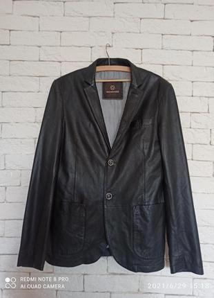 Куртка пиджак из кожи теленка milestone оригінал