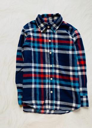 Gap стильная рубашка на мальчика   6-7 лет