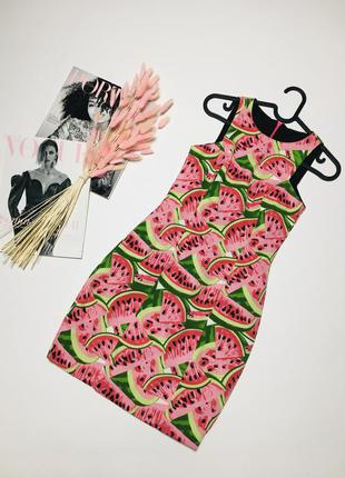 Милое платье с арбузами кавун из текстиля