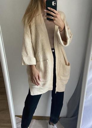 Оверсайз кардиган свитер свободного кроя
