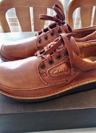 Оригинал туфли мокасины clark's.