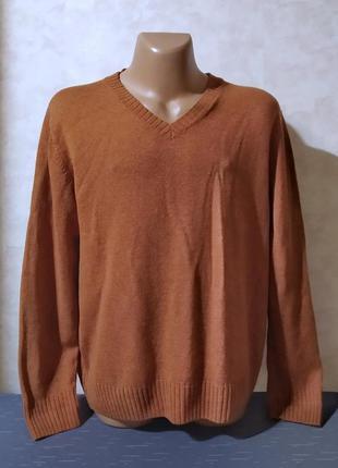 Качественный пуловер светлый терракот, maddison, xl-xxl