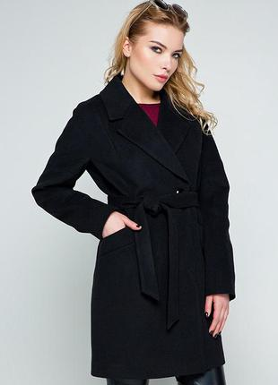 Качественное осеннее кашемировое пальто оверсайз размеры 42,44,46,48   (114/2)