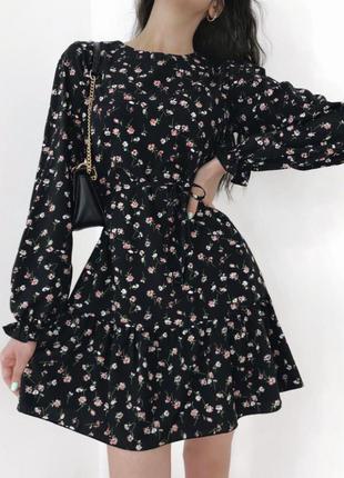 Платье цветочное