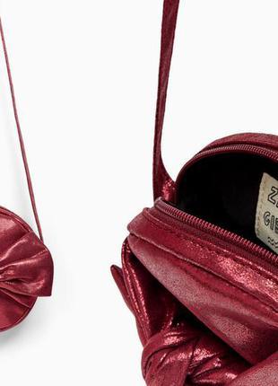 Блестящая круглая сумочка zara зара для девочки