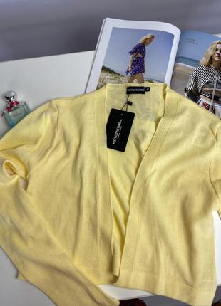 Кардиган лимонного цвета