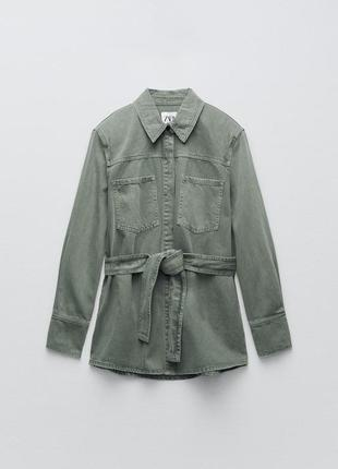 Куртка-рубашка с поясом zara