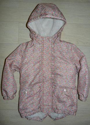 Демисезонная куртка, парка next 4-5 лет, рост 110