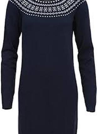 Brakeburn тёмно синее трикотажное платье с орнаментом вокруг шеи. л. 12. 40