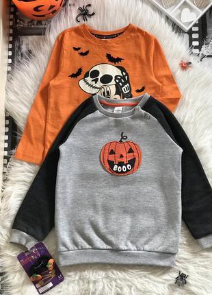 Классный тематический свитшот на хеллоуин с тыквой 🎃 тёплый на флисе lc waikiki