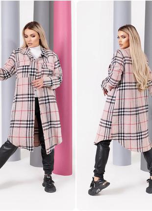 Пальто тренч женское в рубашечном стиле