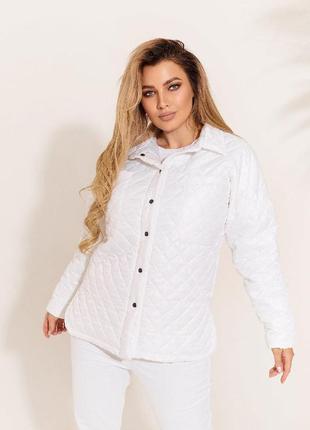 Куртка рубашка женская белая