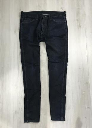 N9 levis джинсы синие штаны классические левайс однотонные левис