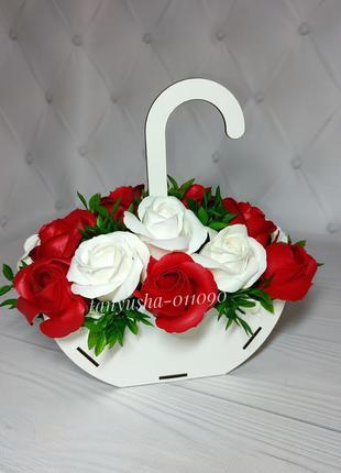 Букет квітів з мила троянд из мыла мыльных цветов роз