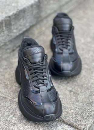 Натуральная кожа! зимние кроссовки