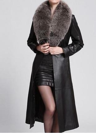 Пальто кожа натуральная/ кожаное пальто шикарное