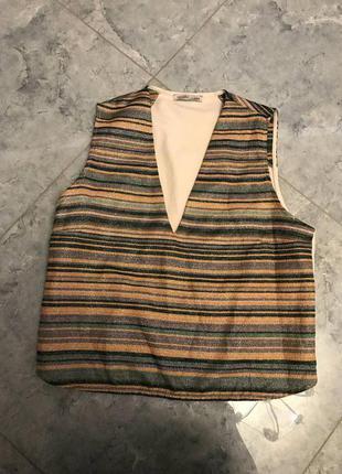 🆘🔥последняя цена до 30 сентября 🆘🔥  кроп блуза в полоску с вырезом