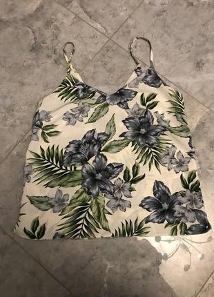 🆘🔥последняя цена до 30 сентября 🆘🔥  блуза в цветы на бретелях