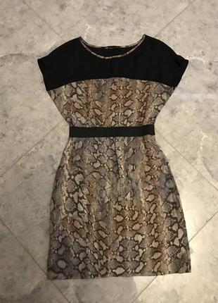 🆘🔥последняя цена до 30 сентября 🆘🔥  мини платье с карманами в анемалестичный  принт
