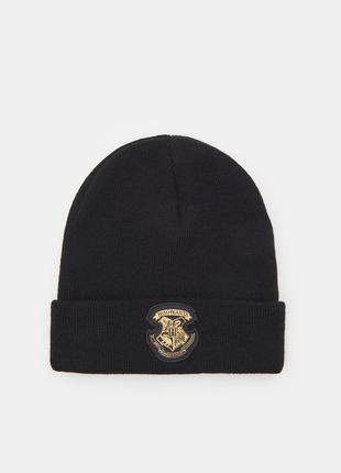Новая черная шапка гарри поттер хогвартс harry potter hogwarts нашивка шапочка бини