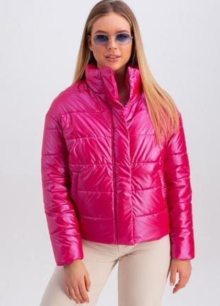 Демисезонная короткая малиновая куртка | 51090