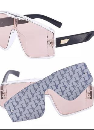 Стильные солнцезащитные очки с дополнительной накладной в стиле!!! dior